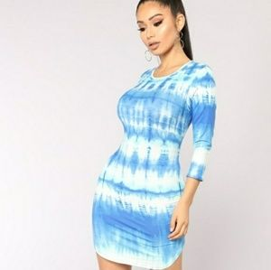 Blue Tie Dyed Dress (Small)